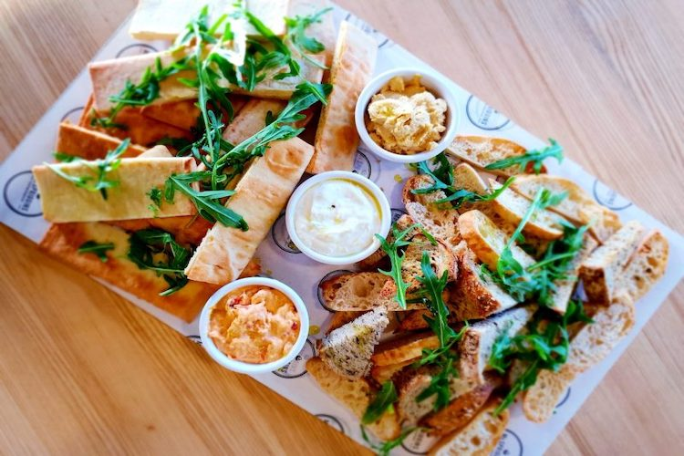 funtopia party platter gourmet dips breads 1